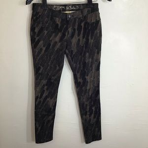 Princess Born to Rule Brown Stretch Jeans Ins 30